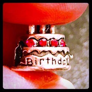 Jewelry - Silver Birthday Cake Charm